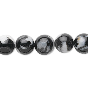 bead, zebra jasper (natural), 10mm round, b grade, mohs hardness 3. sold per 16-inch strand.