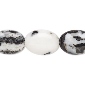 bead, zebra jasper (natural), 18x13mm flat oval, b grade, mohs hardness 3. sold per 16-inch strand.