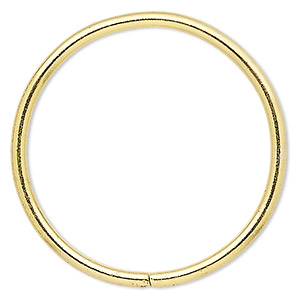 beading hoop, gold-finished steel, 2-inch closed round. sold per pkg of 4.