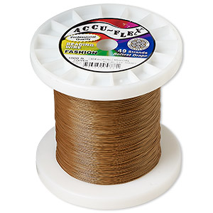 beading wire, accu-flex, nylon and stainless steel, copper, 49 strand, 0.019-inch diameter. sold per 1,000-foot spool.