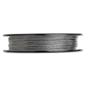 beading wire, tigertail™, nylon-coated stainless steel, clear, 3 strand, 0.018-inch diameter. sold per 100-foot spool.