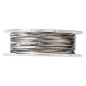 beading wire, tigertail™, nylon-coated stainless steel, clear, 7 strand, 0.018-inch diameter. sold per 30-foot spool.