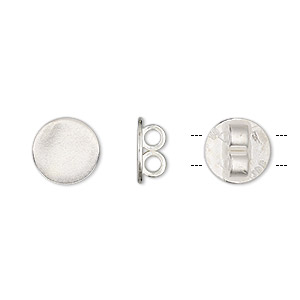 bola slide, jbb findings, silver-plated brass, 10mm round, fits 2mm cord. sold individually.