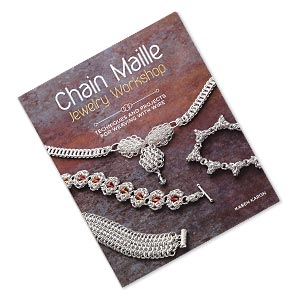 book, chain maille jewelry workshop: techniques and projects for weaving with wire by karen karon. sold individually.