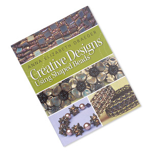 book, creative designs using shaped beads by anna elizabeth draeger. sold individually.