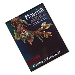 book, flourish book 1 flora: leaf, flower and plant designs by christi friesen. sold individually.