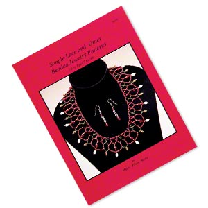 book, simple lace and other beaded jewelry patterns by mary ellen harte. sold individually.