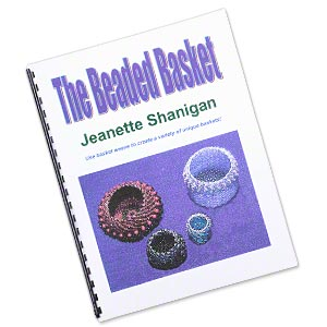 book, the beaded basket by jeanette shanigan. sold individually.