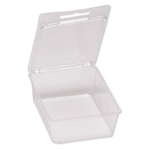 box, plastic, clear, 4-1/2 x 2-3/4 x 1-1/4 inch clamshell blister. sold per pkg of 20.