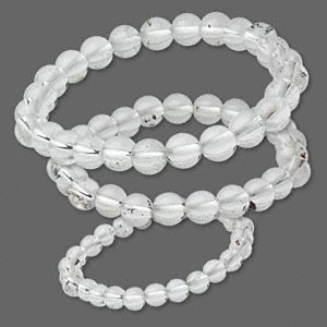 bracelet mix, stretch, quartz crystal (natural), 6-25mm round, 6-1/2 inches. sold per pkg of 3.