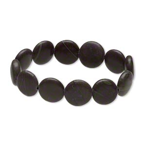 bracelet, stretch, mocha mint jasper (natural), 15-16mm puffed flat round, 6-1/2 inches. sold individually.
