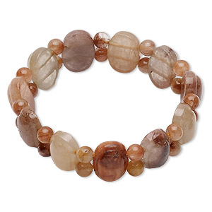 bracelet, stretch, multi-gemstone (natural), 16mm wide with oval and round, 7 inches, mohs hardness 3 to 7. sold individually.