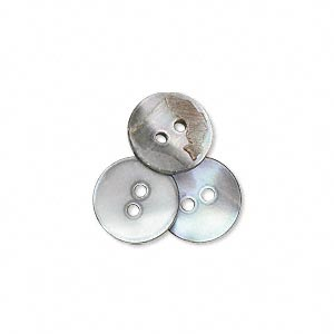 button, black lip shell (natural), 11mm round, mohs hardness 3-1/2. sold per pkg of 100.