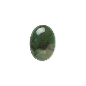cabochon, african jade (natural), 18x13mm calibrated oval, b grade, mohs hardness 7. sold per pkg of 2.