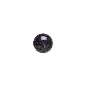 cabochon, blue goldstone (man-made), 10mm calibrated round. sold per pkg of 6.