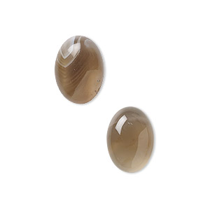 cabochon, botswana agate (natural), 14x10mm calibrated oval, b grade, mohs hardness 6-1/2 to 7. sold per pkg of 2.