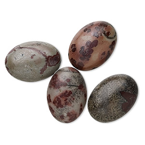 cabochon, crazy horse™ stone (coated), 18x13mm calibrated oval, b grade, mohs hardness 3-1/2 to 4. sold per pkg of 4.