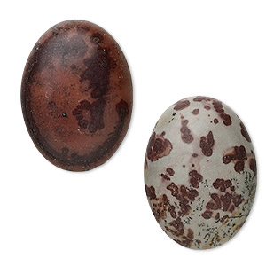cabochon, crazy horse™ stone (coated), 30x22mm calibrated oval, b grade, mohs hardness 3-1/2 to 4. sold per pkg of 2.