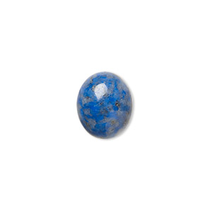 cabochon, denim lapis (natural), 12x10mm calibrated oval, c grade, mohs hardness 5 to 6. sold per pkg of 6.