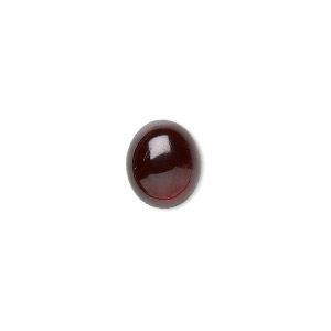 cabochon, garnet (natural), 8x6mm hand-cut calibrated oval, b grade, mohs hardness 7 to 7-1/2. sold per pkg of 2.