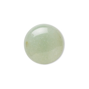 cabochon, green aventurine (natural), light to medium, 20mm calibrated round, b grade, mohs hardness 7. sold per pkg of 2.