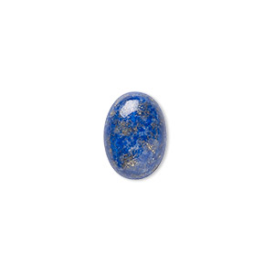 cabochon, lapis lazuli (natural), 14x10mm calibrated oval, b grade, mohs hardness 5 to 6. sold per pkg of 2.