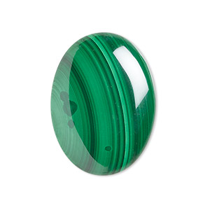 cabochon, malachite (natural), 30x22mm calibrated oval, b grade, mohs hardness 3-1/2 to 4. sold individually.