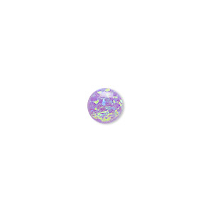 cabochon, opal (man-made), lavender, 8mm calibrated round. sold individually.