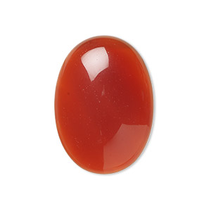 cabochon, red agate (dyed / heated), 25x18mm calibrated oval, b grade, mohs hardness 7. sold individually.