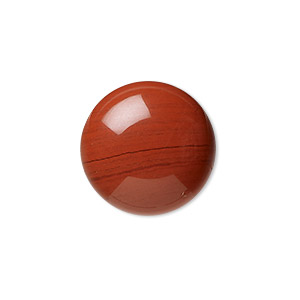 cabochon, red jasper (natural), 20mm calibrated round, b grade, mohs hardness 6-1/2 to 7. sold per pkg of 2.