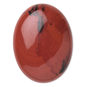 cabochon, red jasper (natural), 40x30mm calibrated oval, b grade, mohs hardness 6-1/2 to 7. sold individually.