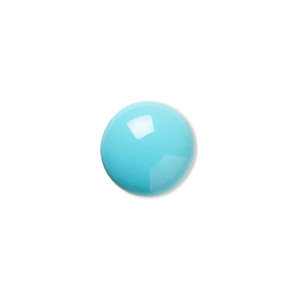 cabochon, sleeping beauty turquoise (stabilized), 16x12mm calibrated oval, b grade, mohs hardness 5 to 6. sold individually.