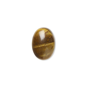 cabochon, tigereye (natural), 14x10mm calibrated oval, b grade, mohs hardness 7. sold per pkg of 6.