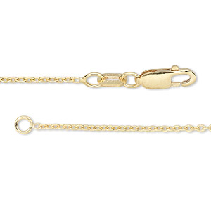 chain, 14kt gold-filled, 1.4mm cable, 18 inches with lobster claw clasp. sold individually.