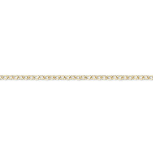 chain, 14kt gold-filled, 1.6mm flat cable. sold per 5-foot spool.