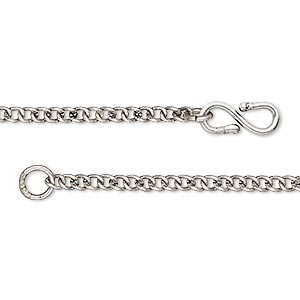 chain, antique silver-plated brass, 2.5x2.5mm curb, 36 inches. sold individually.