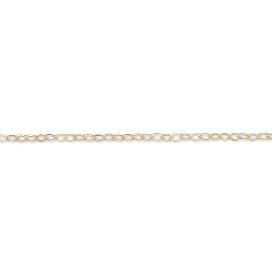 chain, gossamer™, 14kt gold-filled, 1.2mm flat cable, 18 inches with springring clasp. sold individually.