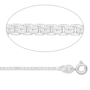 chain, sterling silver, 1.4mm double venetian, 20 inches. sold individually.