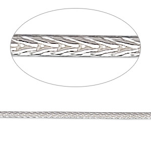 chain, sterling silver, 2mm round foxtail, 20 inches. sold individually.