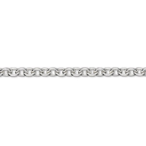 chain, sterling silver, 3.5mm cable. sold per pkg of 5 feet.