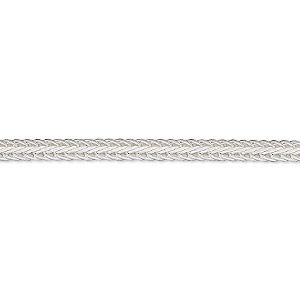 chain, sterling silver, 3mm hammered foxtail, 24 inches. sold individually.