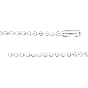 chain, sterling silver and sterling silver-filled, 2.1mm ball, 24 inches with ball chain connector. sold individually.