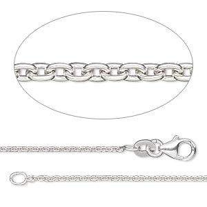 chain, sterling silver-filled, 1.4mm cable, 16 inches with lobster claw clasp. sold individually.
