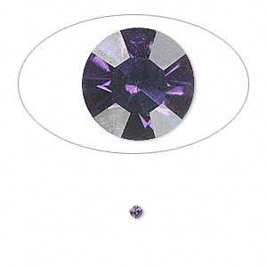 chaton, glass rhinestone, iris blue, foil back, 1.9-2.0mm faceted round, pp13. sold per pkg of 72.