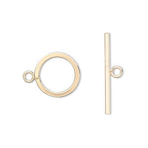 clasp, jbb findings, toggle, 12kt gold-filled, 13mm smooth round. sold individually.