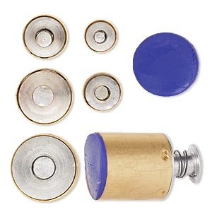 clay cutter, kemper, brass, 9-19mm assorted circle with built-in pop-out tool. sold per 5-piece set.