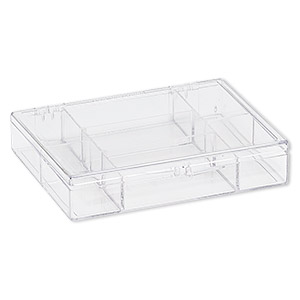 clear acrylic utility box, with 7 compartments, sold individually.