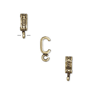 component, jbb findings, antiqued brass, 7x3mm fancy rondelle with open loop, 5x2mm inside diameter. sold per pkg of 2.