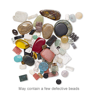 component mix, gemstone (natural / dyed / manmade), 21x17mm-46x33mm mixed shape. sold per pkg of 1 pound, approximately 45-70 pieces.