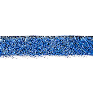 cord, hair-on leather, blue, 10mm single-sided flat. sold per pkg of 1 yard.